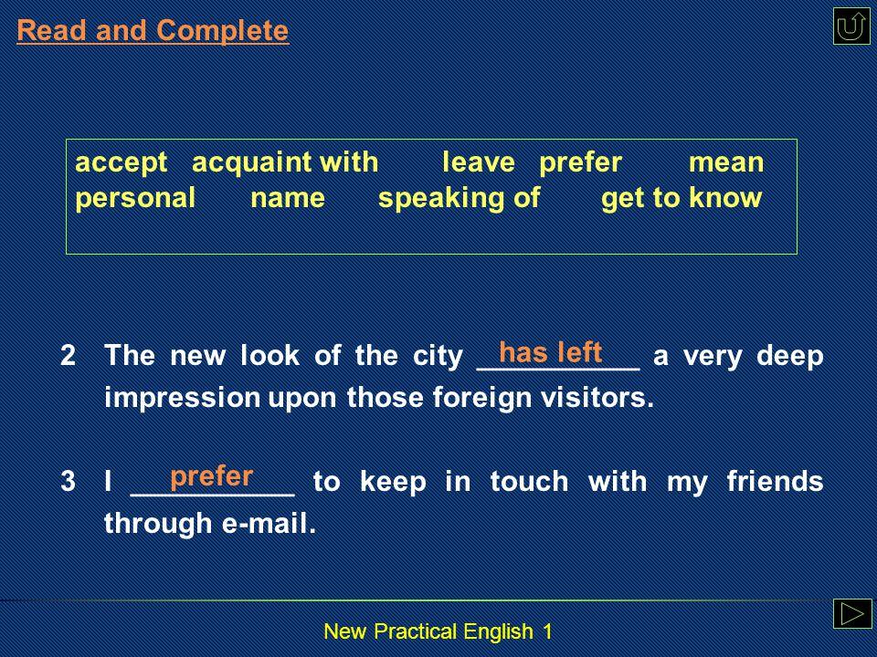 New Practical English 1 4.