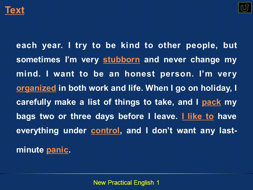 New Practical English 1 Text A Little About Me Para.