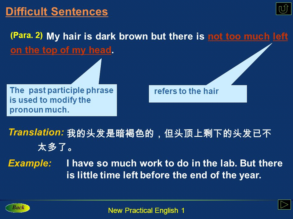 New Practical English 1 Para. 3 Now I'm teaching in a university in China.