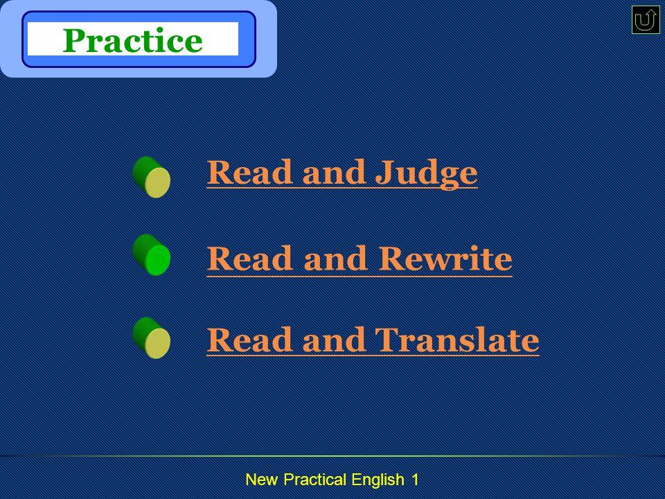 New Practical English 1 panic: a. & n.