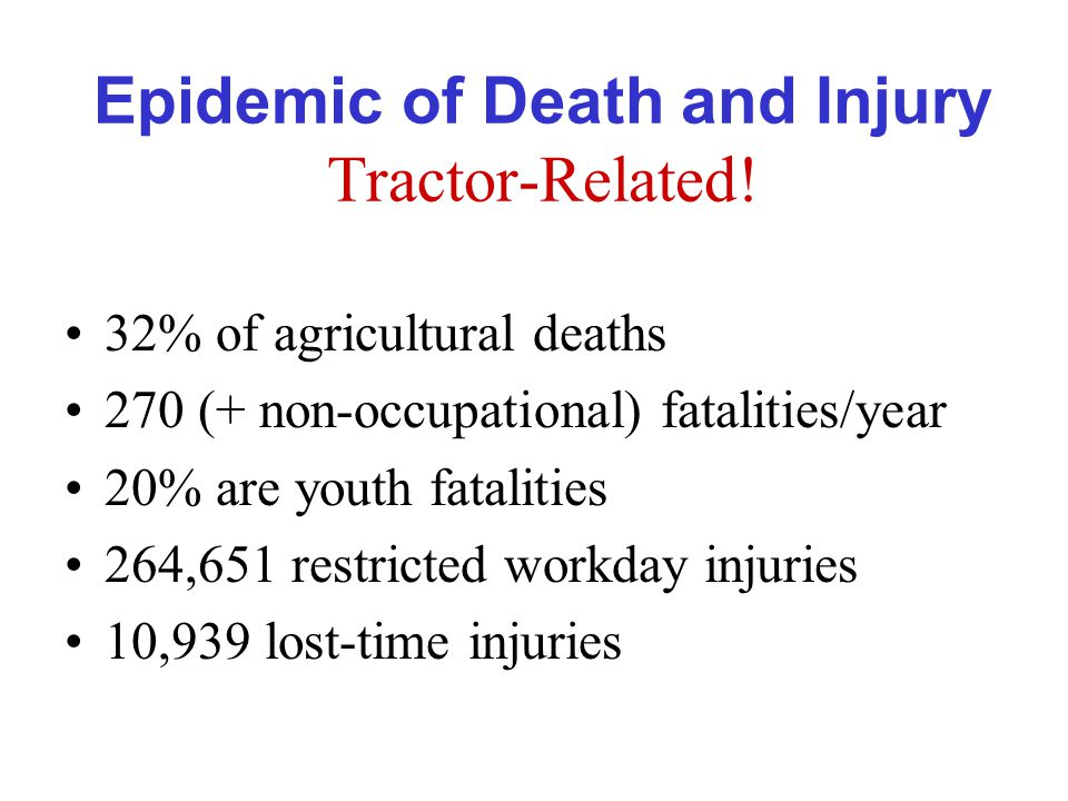 Epidemic of Death and Injury Tractor-Related.