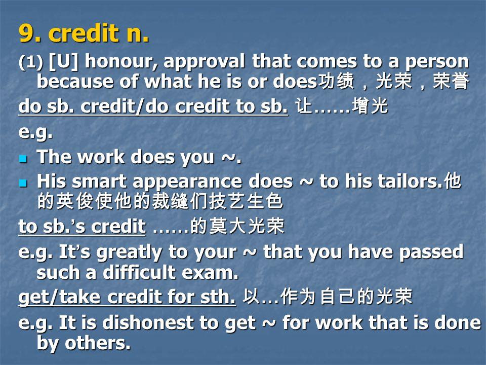 9. credit n.