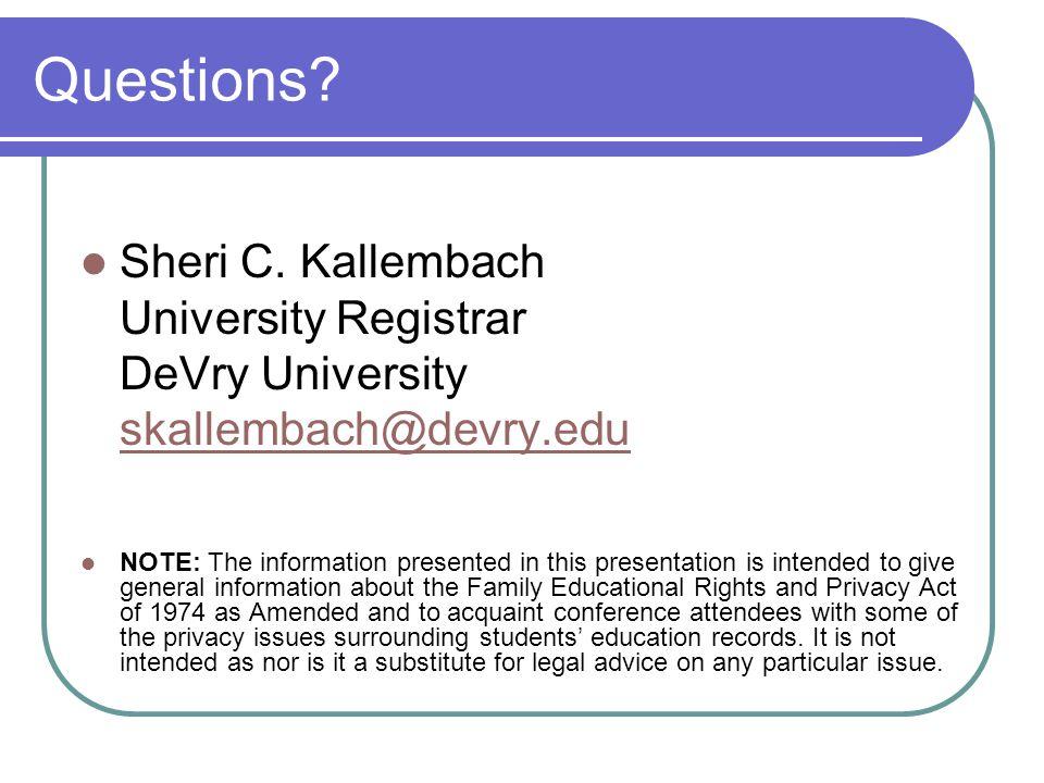 Questions.Sheri C.