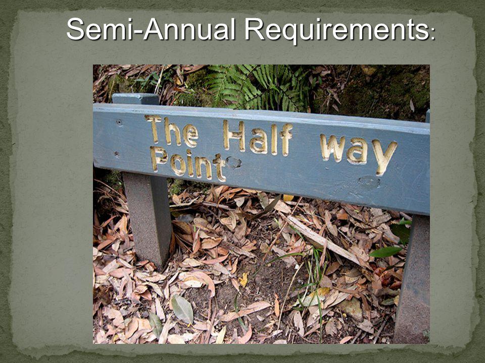 Semi-Annual Requirements :