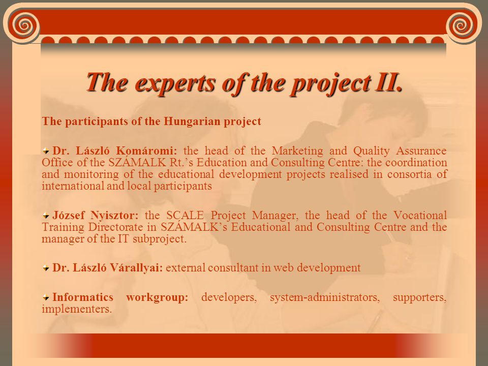 The participants of the Hungarian project Dr.
