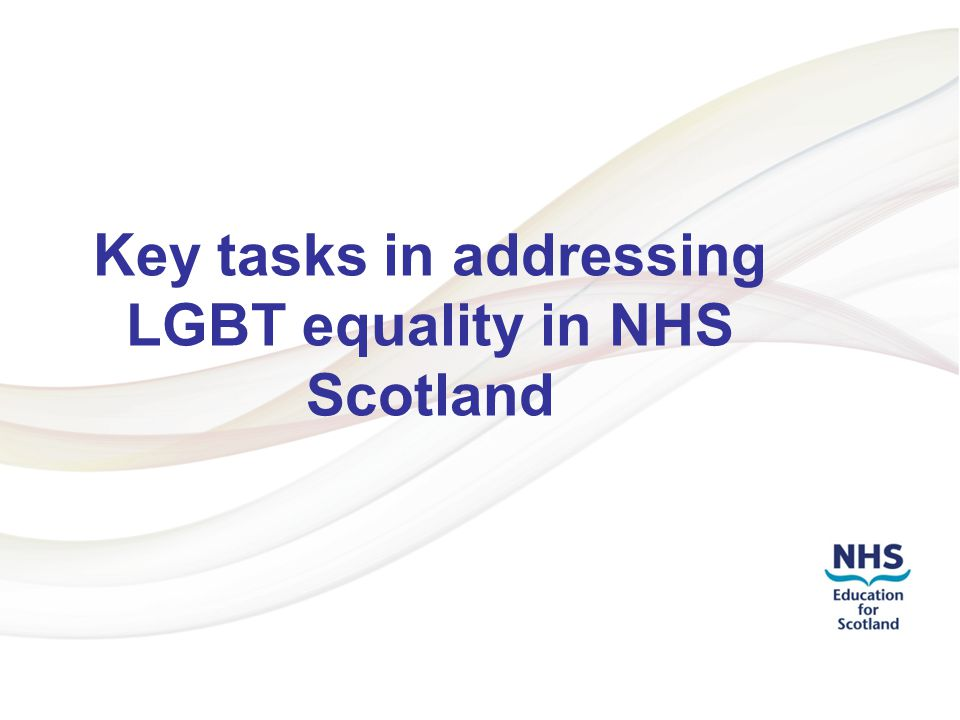 Addressing LGBT Health Inequalities 2 Understand the law LGBT people are protected from discrimination in employment and vocational training.