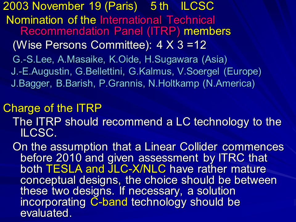 The Global LC is a major challenge of the HEP society.