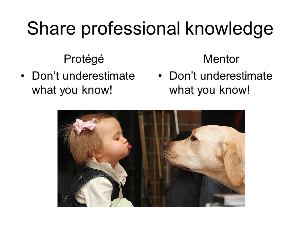 Share professional knowledge Mentor Don't underestimate what you know.