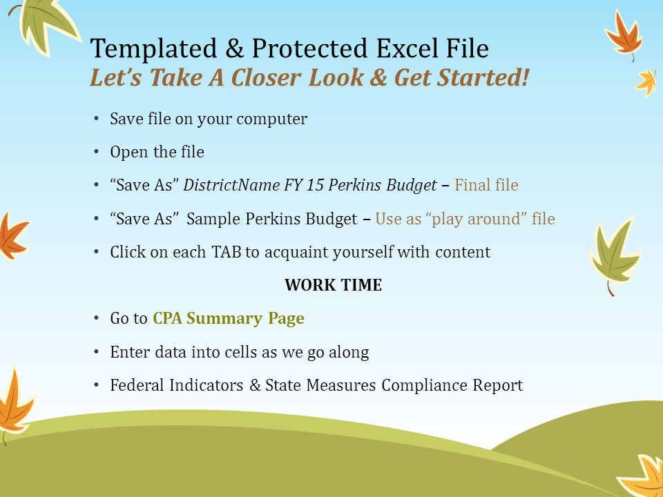 Templated & Protected Excel File Let's Take A Closer Look & Get Started.