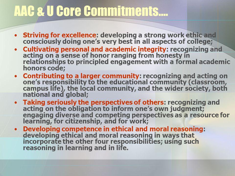 AAC & U Core Commitments….