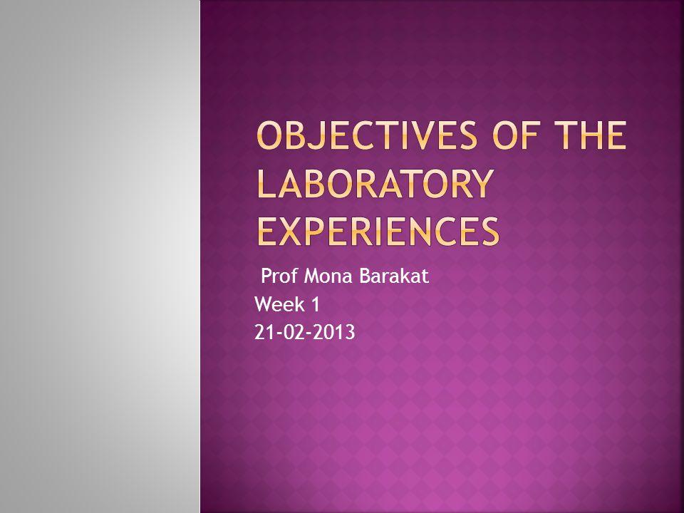 Prof Mona Barakat Week 1 21-02-2013