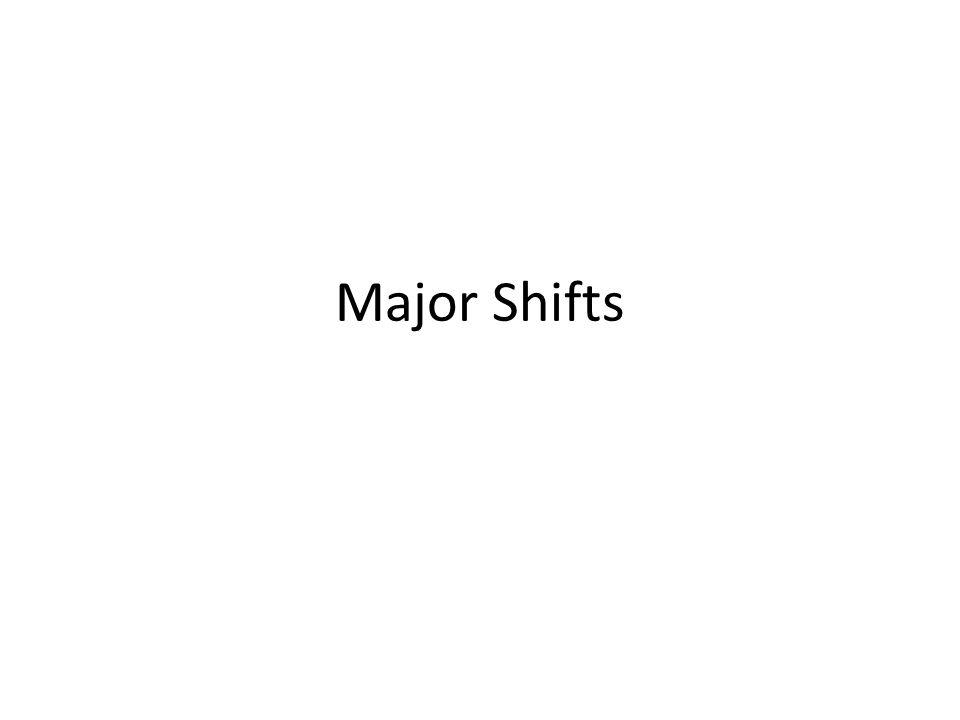 Major Shifts