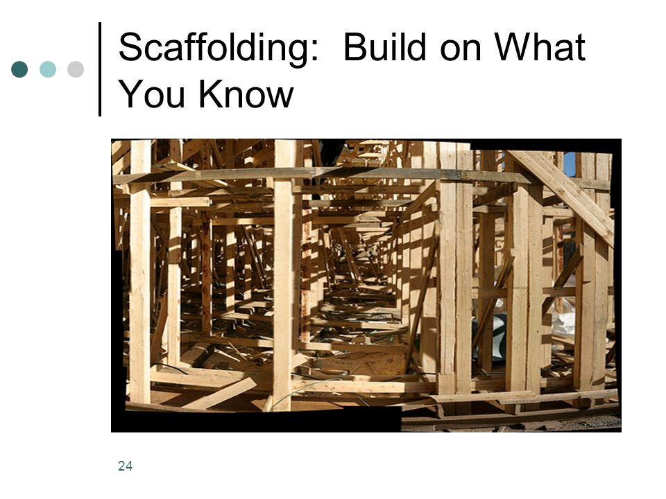 Scaffolding: Build on What You Know 24
