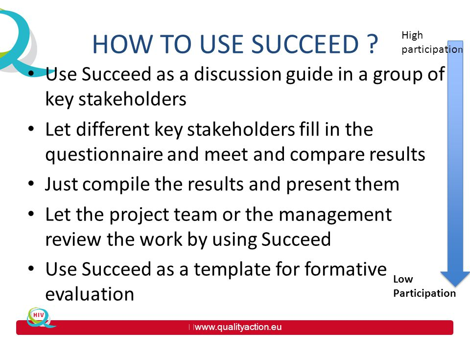 www.qualityaction.eu HOW TO USE SUCCEED .