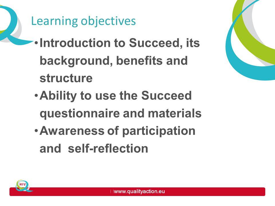 www.qualityaction.eu HOW TO USE SUCCEED .