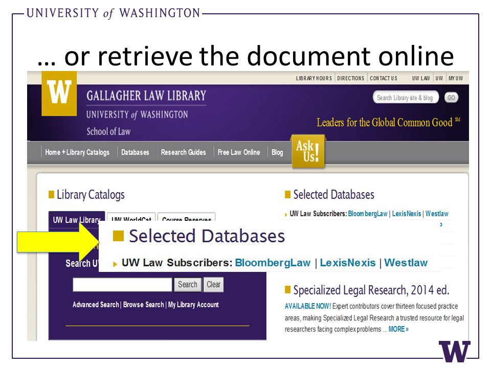 … or retrieve the document online