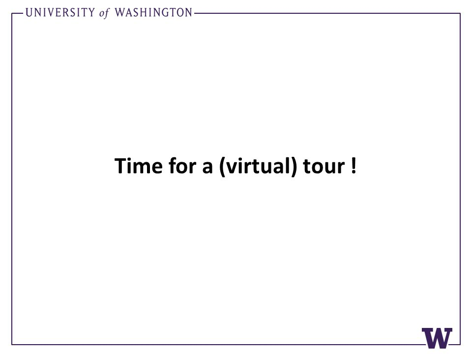 Time for a (virtual) tour !