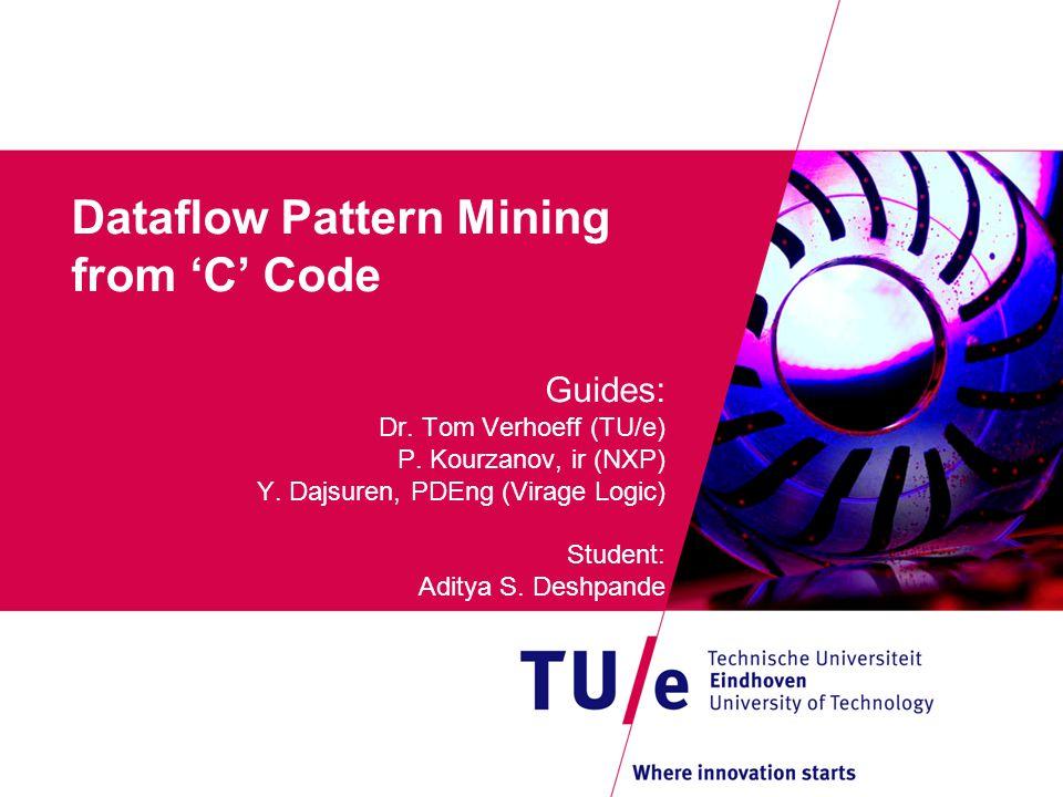 Dataflow Pattern Mining from 'C' Code Guides: Dr. Tom Verhoeff (TU/e) P.