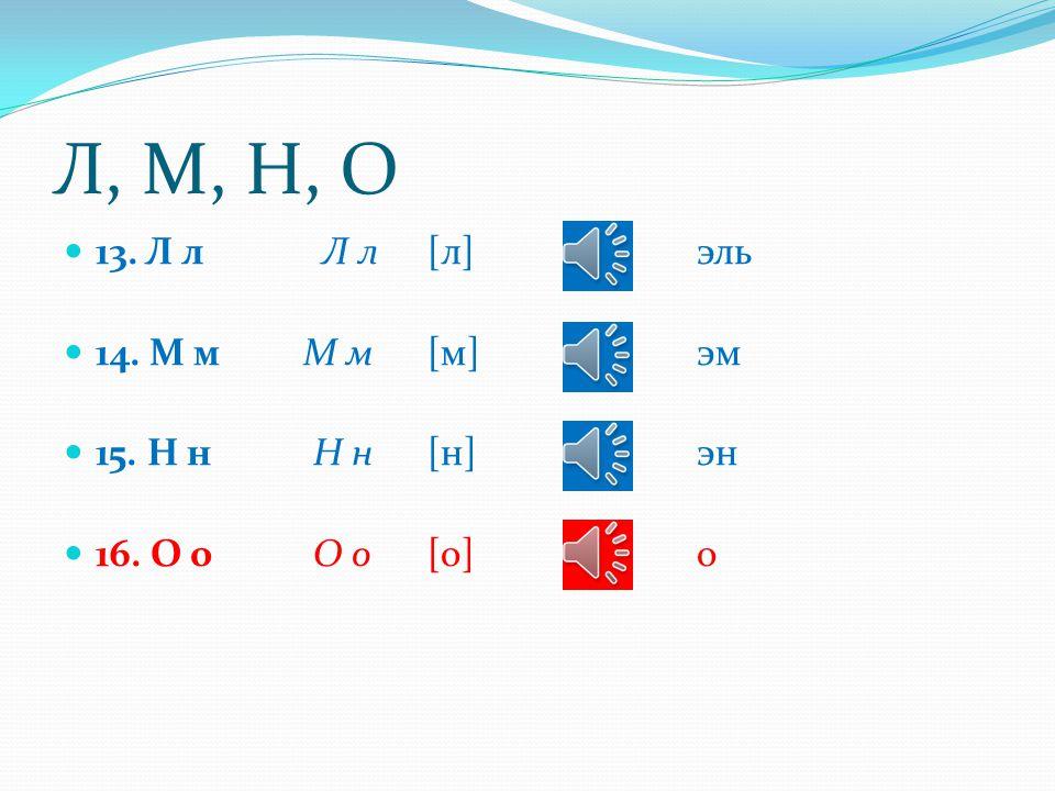 З, И, Й, К 9. З з З з [з] зэ 10. И и И и [и]и 11. Й й Й й [й] и краткое (йот) 12. К к К к [к]ка
