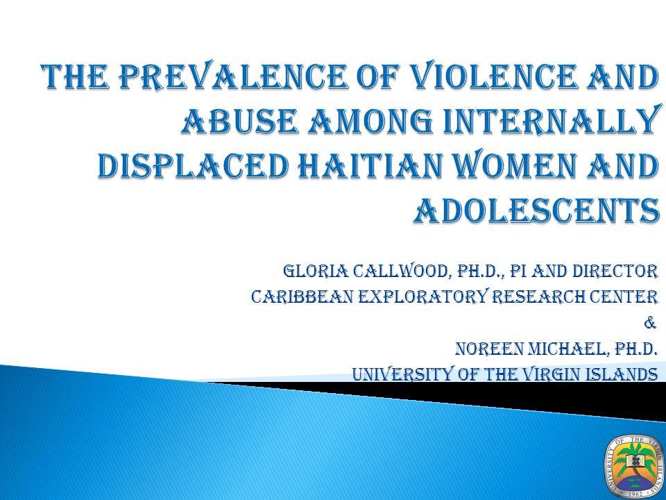 Gloria Callwood, Ph.D., PI and Director Caribbean Exploratory Research Center & Noreen Michael, Ph.D.