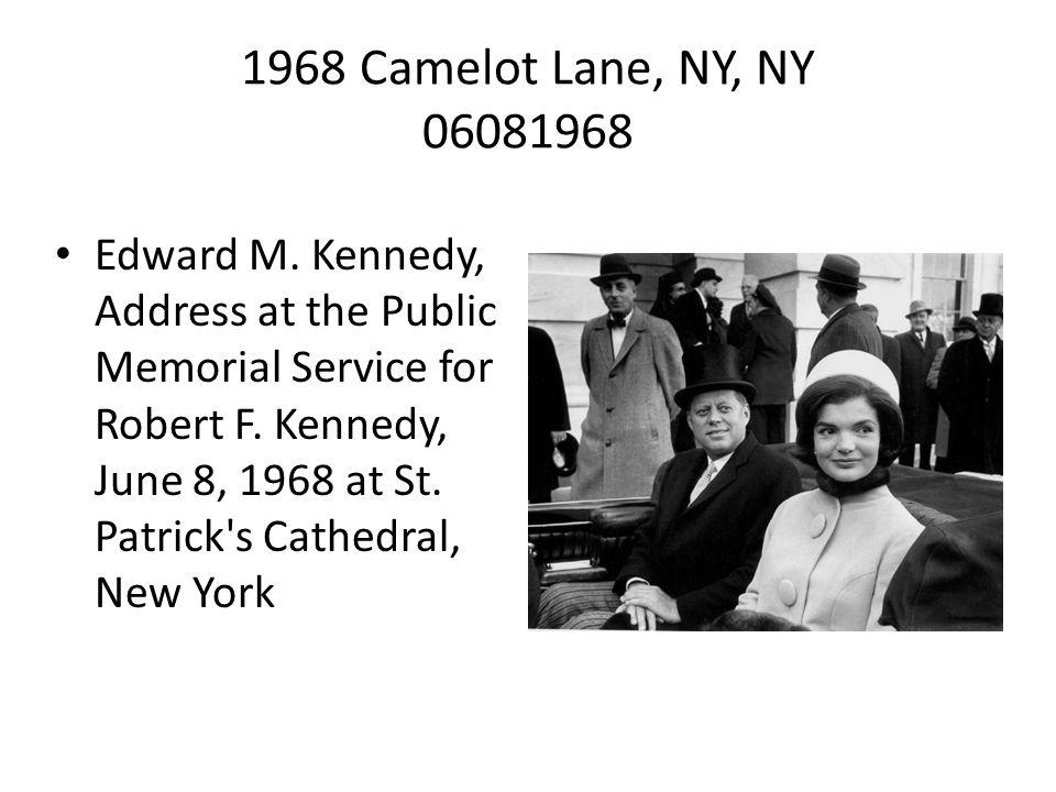 1968 Camelot Lane, NY, NY 06081968 Edward M.