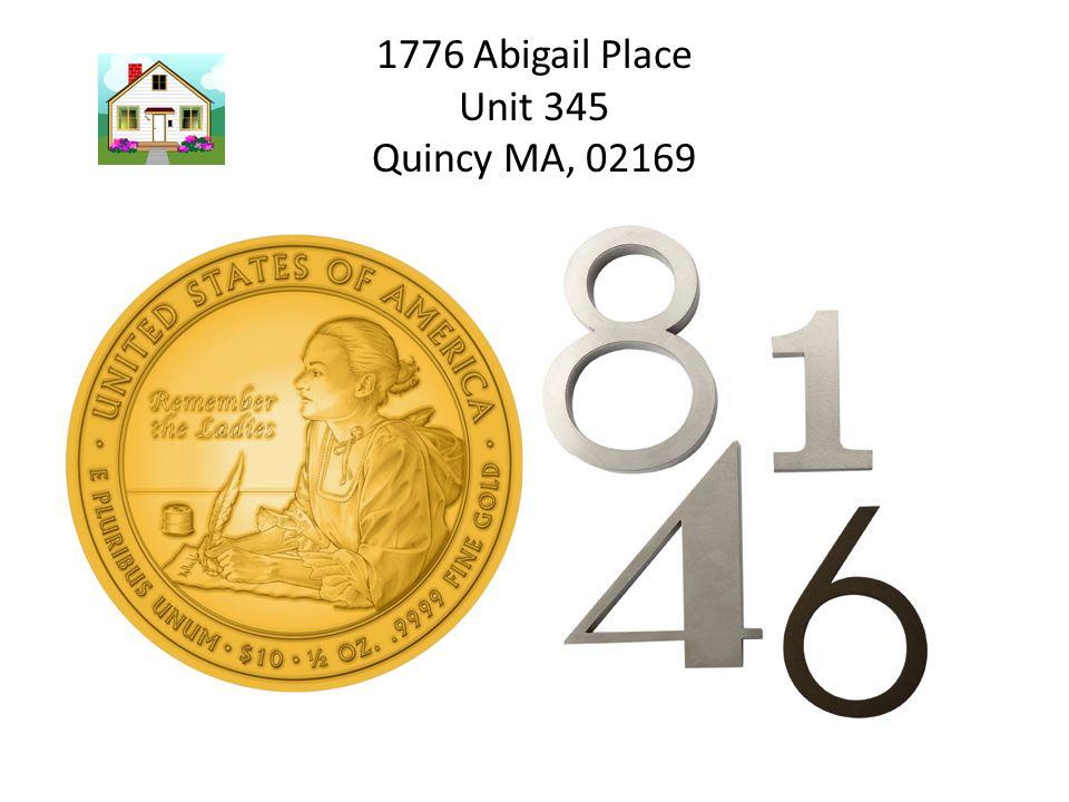 1776 Abigail Place Unit 345 Quincy MA, 02169