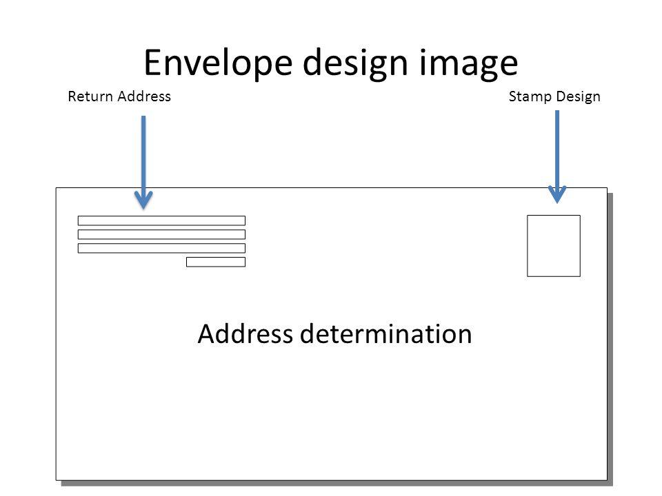 Envelope design image Address determination Return AddressStamp Design