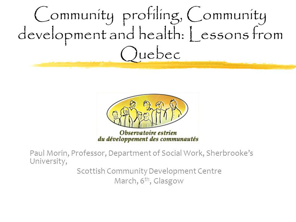Realistic evaluation (2012-2014) funded by the CIHR  Example of a project in Mont-Bellevue: the primary school project:  The community organizers have used the TBCE as the tool for organizing the information: