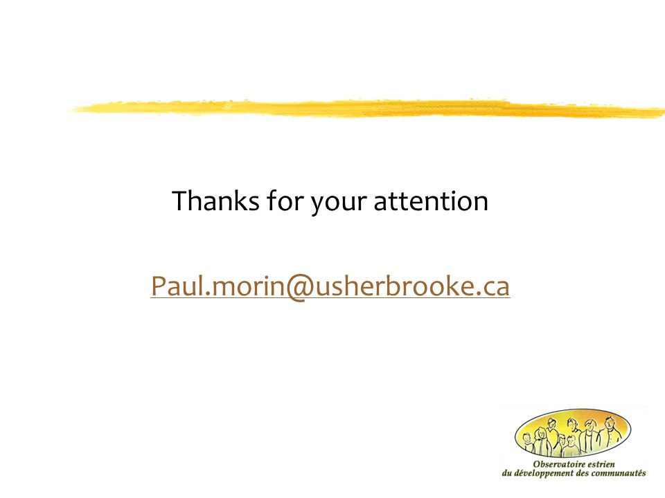 Thanks for your attention Paul.morin@usherbrooke.ca