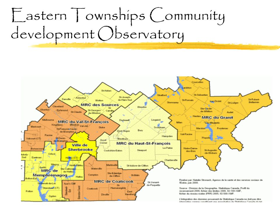 Eastern Townships Community development Observatory