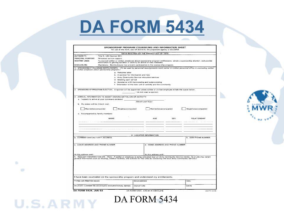DA FORM 5434