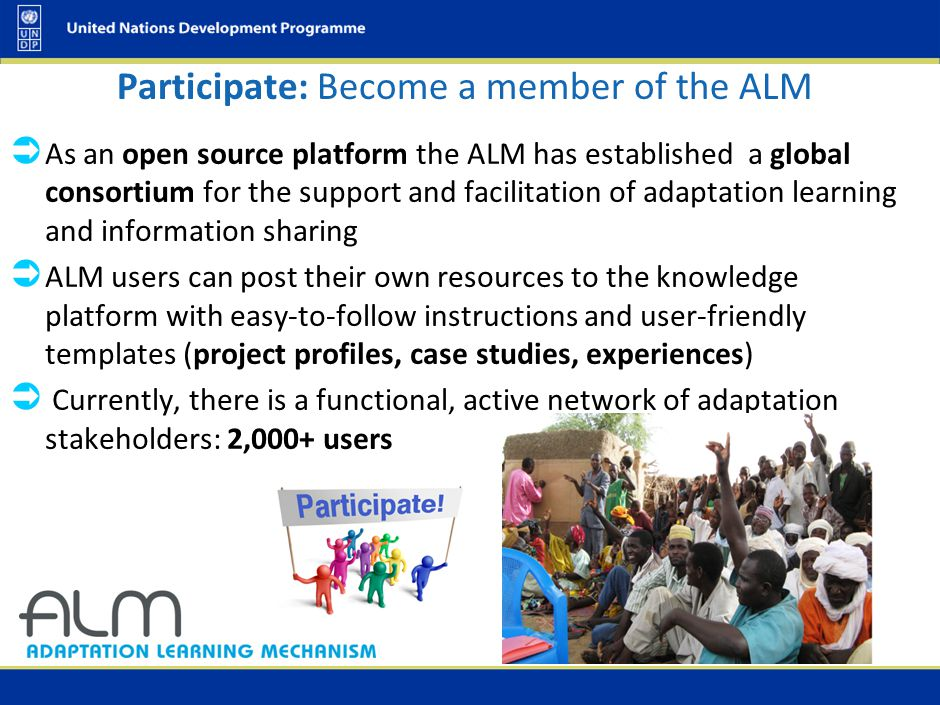 Participate: Become a member of the ALM  As an open source platform the ALM has established a global consortium for the support and facilitation of a