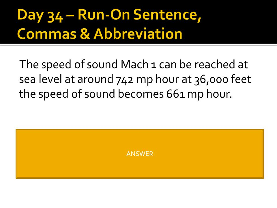 The speed of sound Mach 1 can be reached at sea level at around 742 mp hour at 36,000 feet the speed of sound becomes 661 mp hour. The speed of sound,
