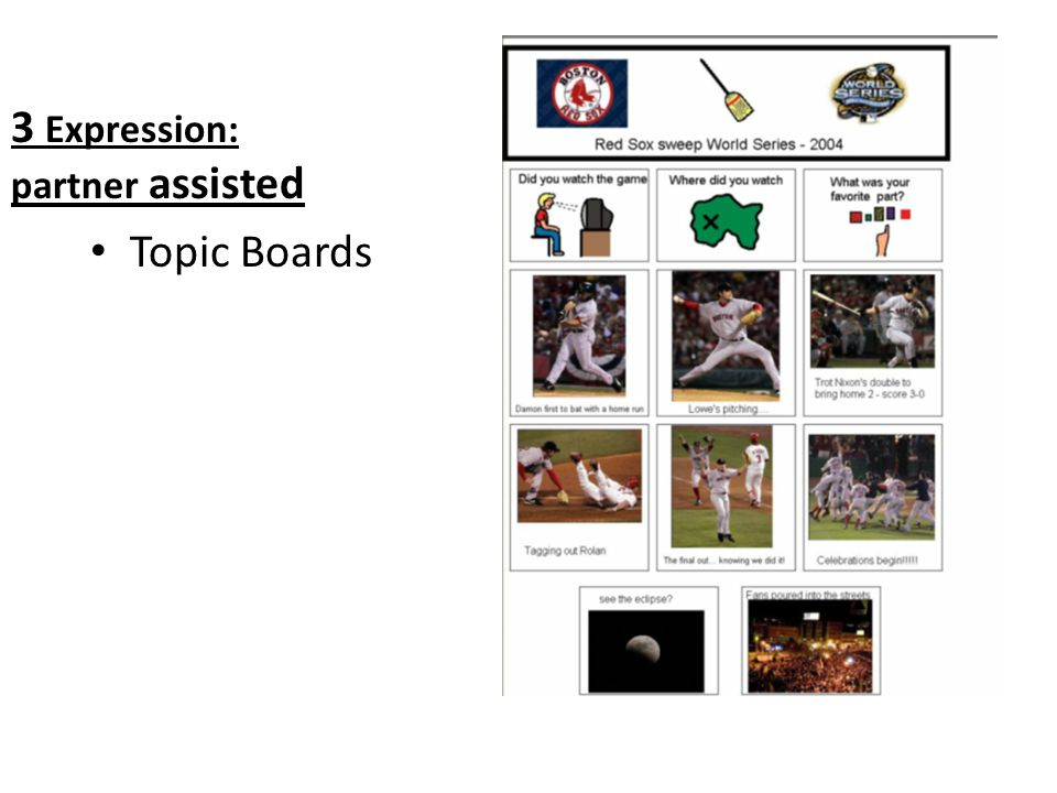 3 Expression: partner assisted Topic Boards