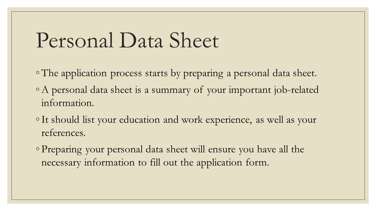 Application Form ◦An application form asks for information related to employment.