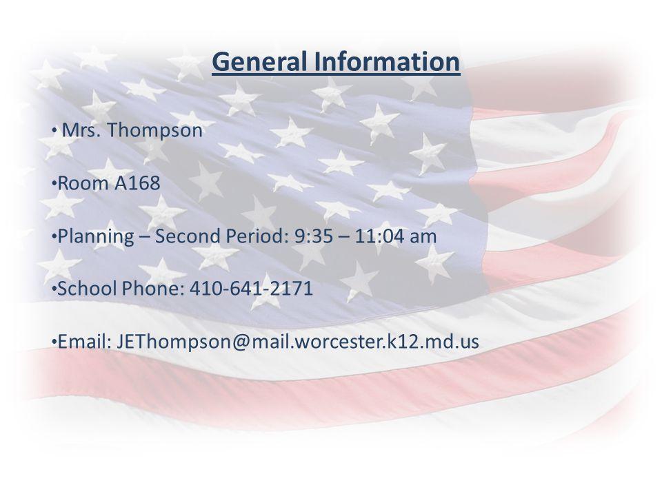 General Information Mrs.