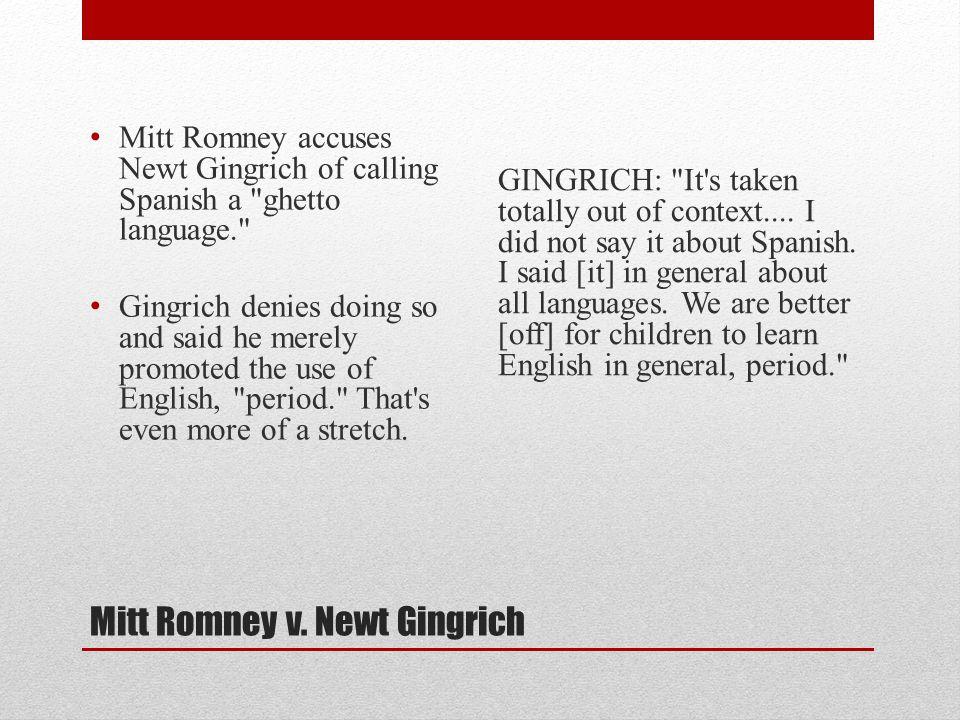 Mitt Romney v.