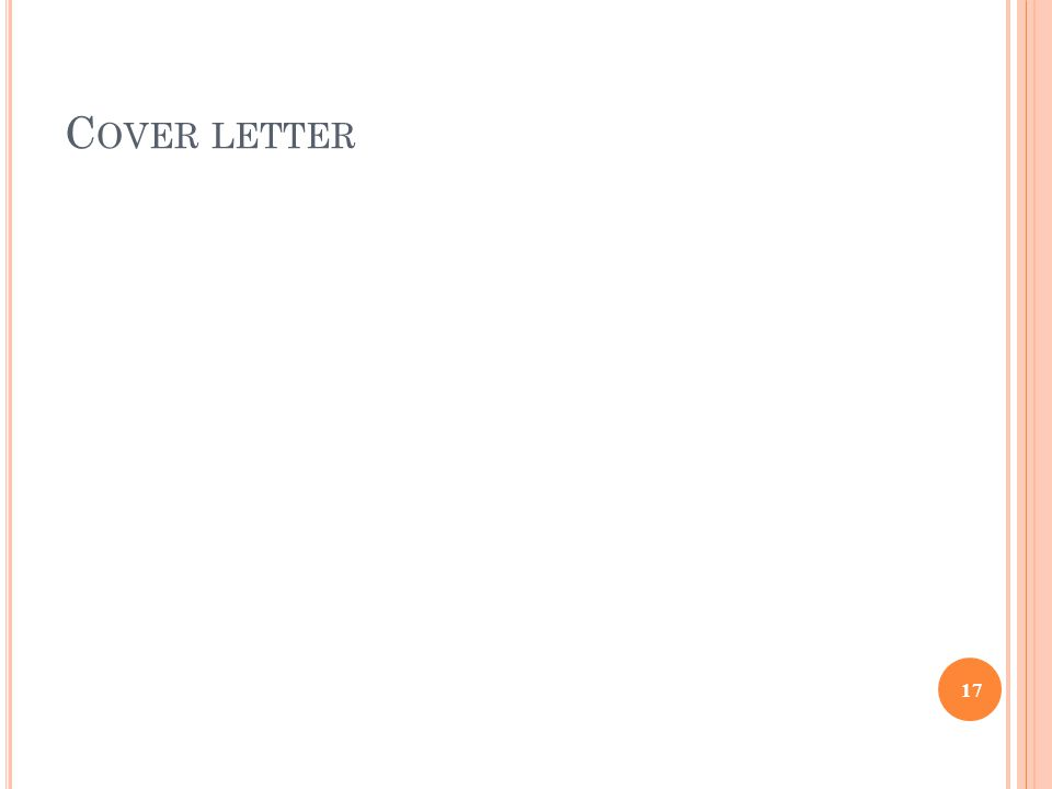 C OVER LETTER 17