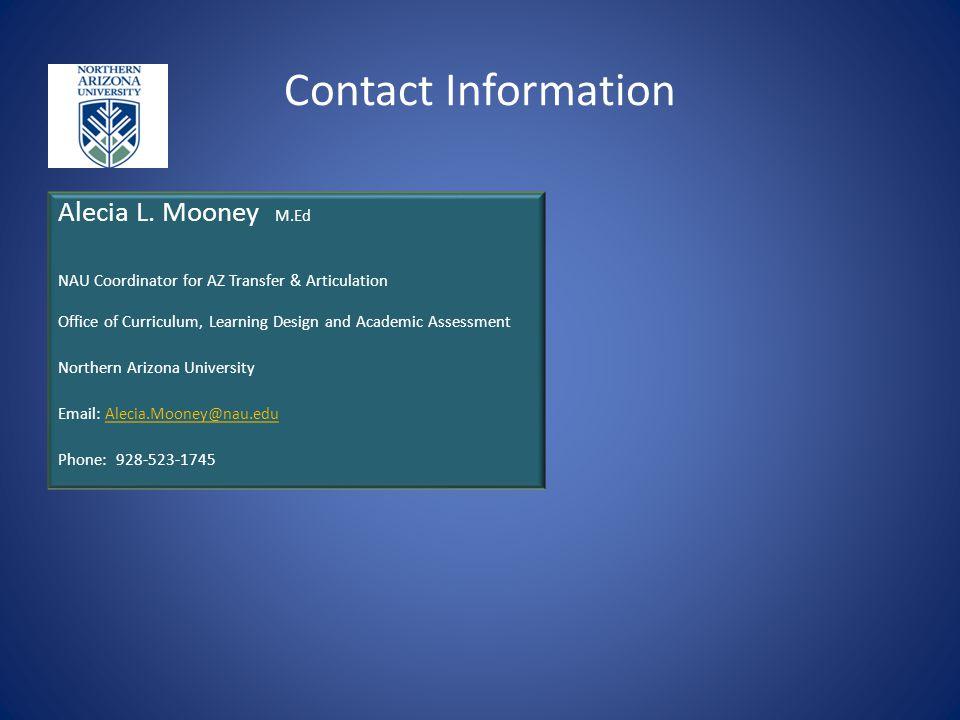 Contact Information Alecia L.