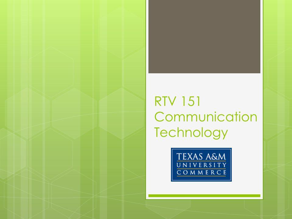 RTV 151 Communication Technology