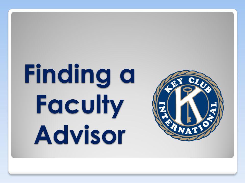 Finding a Faculty Advisor