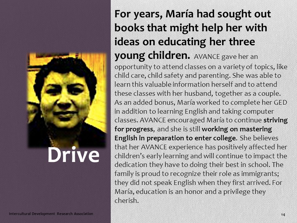 For years, María had sought out books that might help her with ideas on educating her three young children.