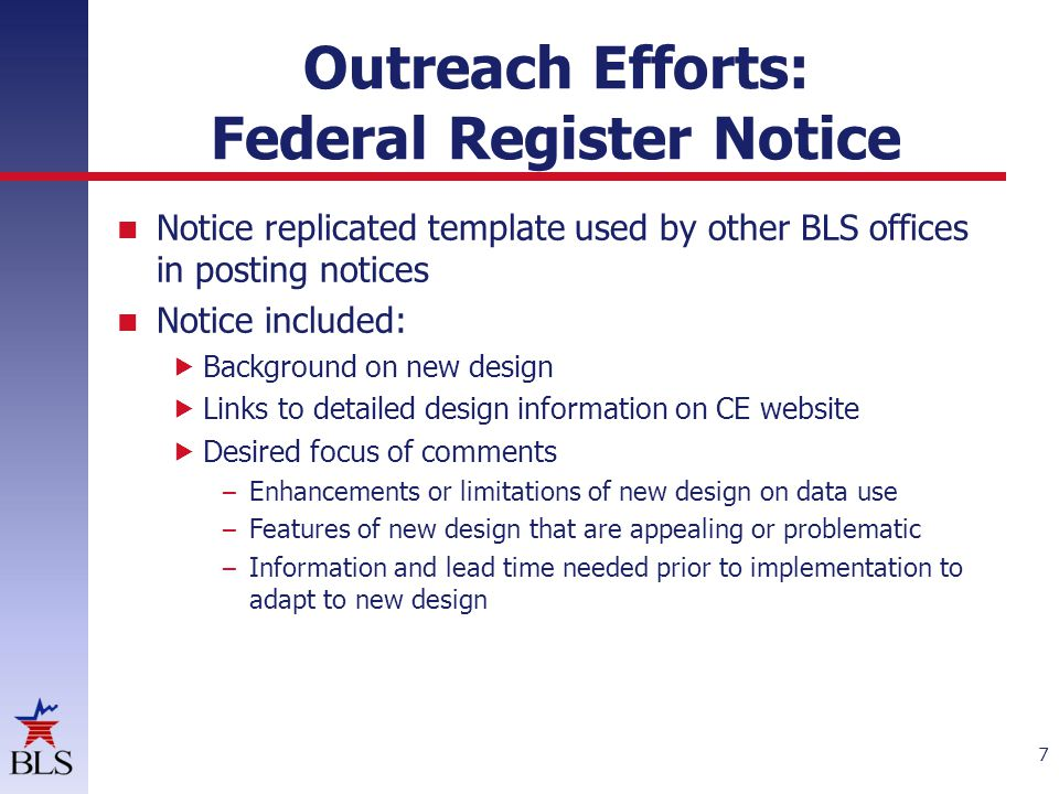 Outreach Efforts: Events Federal Data Users Meeting – Part 1 – cont.
