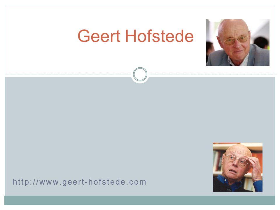 http://www.geert-hofstede.com Geert Hofstede