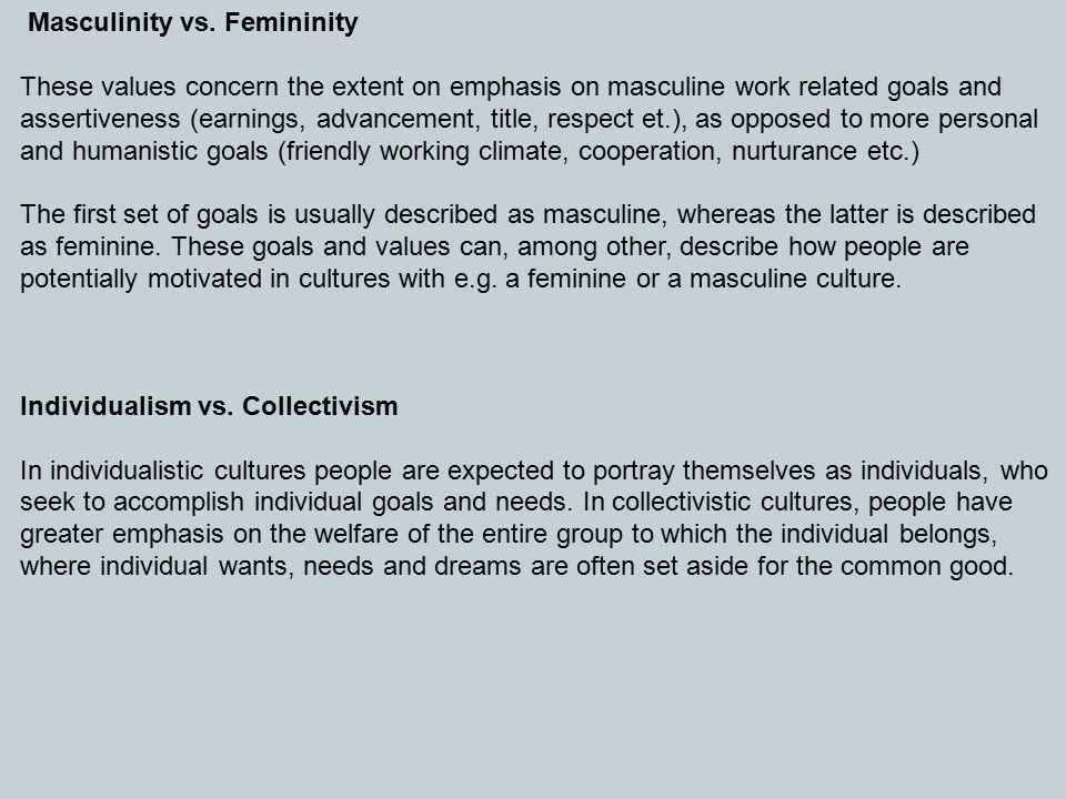 Masculinity vs.