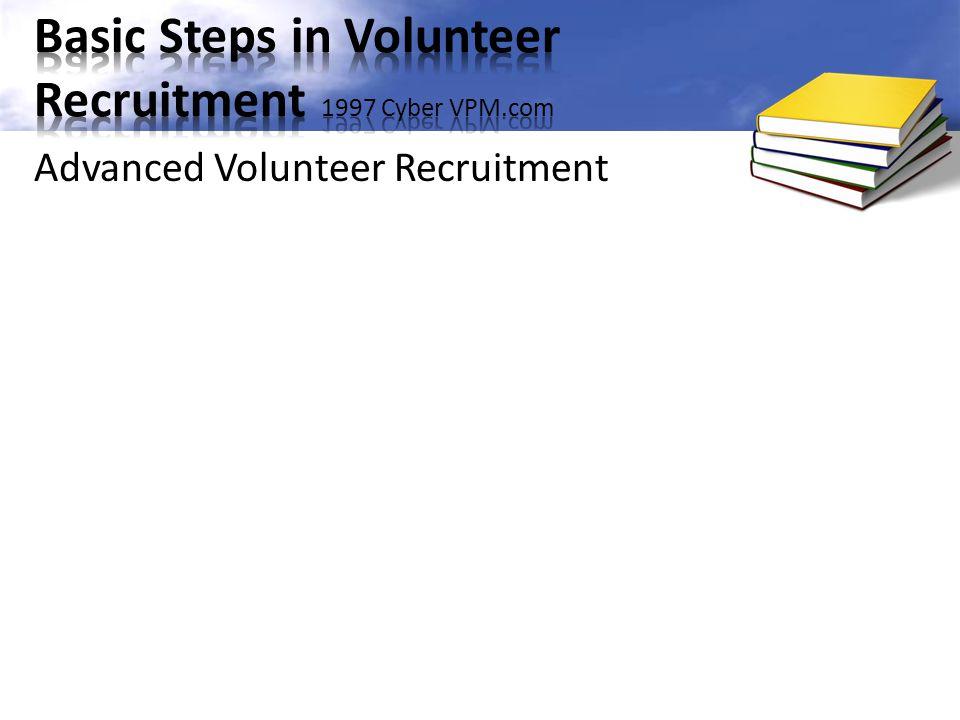 Advanced Volunteer Recruitment