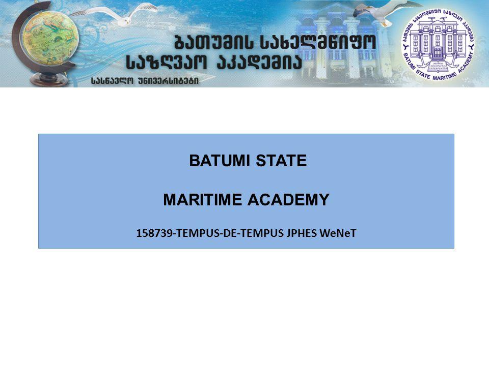 BATUMI STATE MARITIME ACADEMY 158739-TEMPUS-DE-TEMPUS JPHES WeNeT