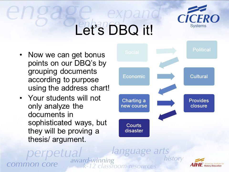 Let's DBQ it.