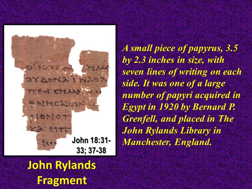 A small piece of papyrus, 3.5 by 2.3 inches in size, with seven lines of writing on each side.