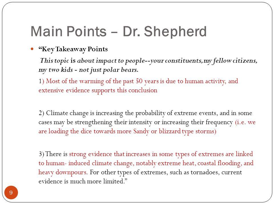 Main Points – Dr.